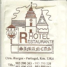 Pacotes de Açúcar de coleção: SOBRE DE AZÚCAR VACÍO - HOTEL RESTAURANTE SIMANCAS - SIMANCAS (VALLADOLID). Lote 50042023