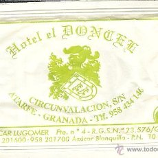 Pacotes de Açúcar de coleção: SOBRE DE AZÚCAR VACÍO - HOTEL EL DONCEL - ATARFE (GRANADA) - CAFÉS LUGOMER. Lote 50042159