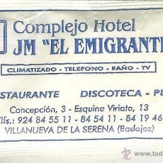 Pacotes de Açúcar de coleção: SOBRE DE AZÚCAR LLENO - COMPLEJO HOTEL JM EL EMIGRANTE - VILLANUEVA DE LA SERENA. Lote 50042332