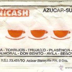 Pacotes de Açúcar de coleção: SOBRE DE AZÚCAR VACÍO - UNICASH. Lote 50139664