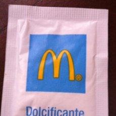 Sobres de azúcar de colección: SOBRE DE AZÚCAR EDULCORANTE MCDONALDS · ITALIA SIN ABRIR. Lote 51385341