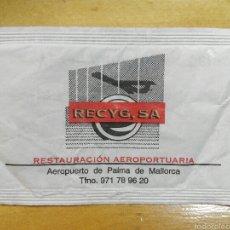 Sobres de azúcar de colección: SOBRE DE AZÚCAR TEMA AVIONES, RECYG, SA, AEROPUERTO DE PALMA DE MALLORCA, 6 GR.. Lote 100675396