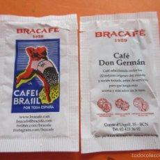 Sobres de azúcar de colección: SOBRE DE AZUCAR - BRACAFE CAFE DON GERMAN 6/7 GR.. Lote 105757882