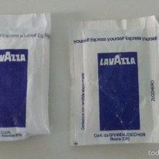 Sobres de azúcar de colección: 2 SOBRES LLENOS CAFE LAVAZZA. Lote 56124940