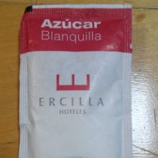 Sobres de azúcar de colección: SOBRE DE AZÚCAR DE ERCILLA HOTELES, CAFE BAQUÉ COM A 10 GR.. Lote 56712309