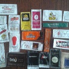 Sobres de azúcar de colección: LOTE DE 25 SOBRES DE AZUCAR VACIOS DE MARCAS DE CAFÉ.. Lote 57274207