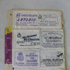 Sobres de azúcar de colección: LOTE 16 SOBRES DE AZUCAR - RESTAURANTES. Lote 58272312