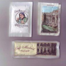 Sobres de azúcar de colección: 3 SOBRES DE AZÚCAR DIFERENTES. Lote 70718057