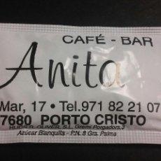 Sobres de azúcar de colección: SOBRE DE AZÚCAR LLENO - BAR ANITA (PORTO CRISTO). Lote 76052945