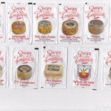 Sobres de azúcar de colección: 11 SOBRES DE AZÚCAR ( QUESOS DE CANTABRIA ) VER DORSO. Lote 80719638