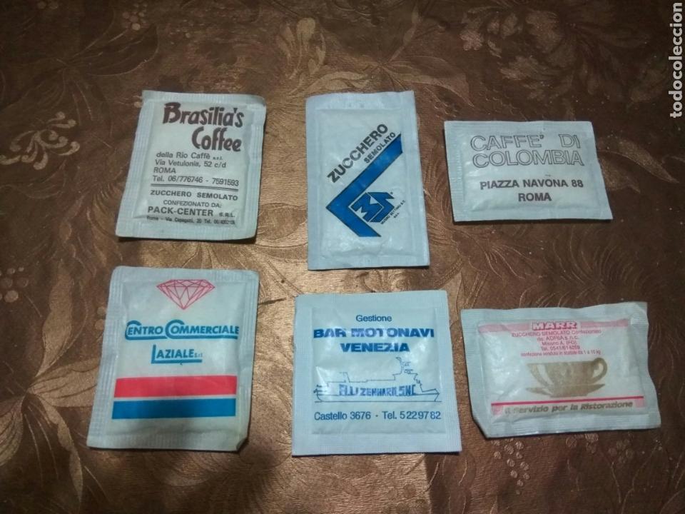 Sobres de azúcar de colección: 6 SOBRES AZÚCAR LLENOS. ITALIANOS. AÑOS 90 - Foto 2 - 84467715