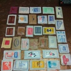 Sobres de azúcar de colección: 36 SOBRES DE AZÚCAR LLENOS. DE VARIOS PAISES.AÑOS 80. Lote 84468252