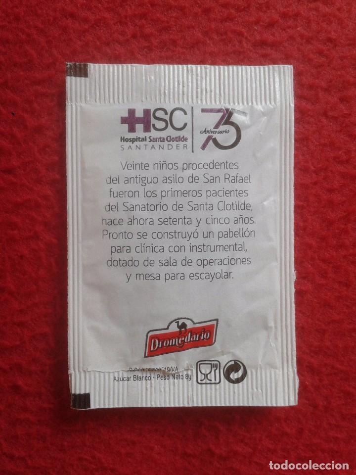 Sobres de azúcar de colección: SOBRE DE AZÚCAR PACKET OF SUGAR VACÍO HOSPITAL DE SANTA CLOTILDE SANTANDER CANTABRIA 75 ANIVERSARIO - Foto 2 - 88879924
