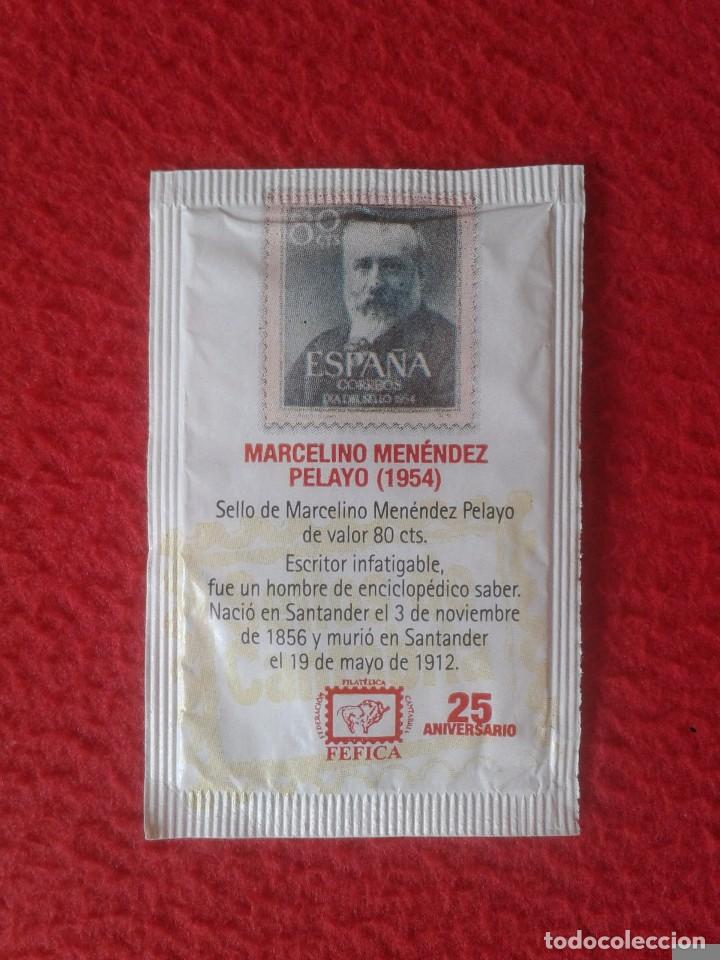 SOBRE DE AZÚCAR SUGAR PACKET VACÍO LEONARDO TORRES QUEVEDO MARCELINO MENÉNDEZ PELAYO DROMEDARIO VER (Coleccionismos - Sobres de Azúcar)
