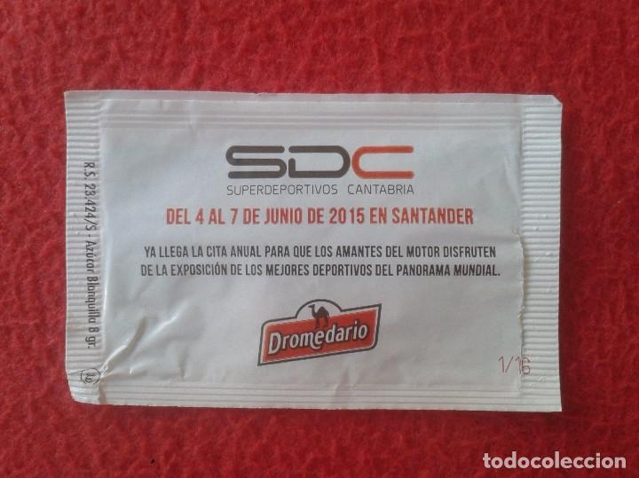 Sobres de azúcar de colección: SOBRE DE AZÚCAR PACKET OF SUGAR SUPERDEPORTIVOS CANTABRIA SDC DEPORTIVOS COCHES CARS SANTANDER VER F - Foto 2 - 89284684