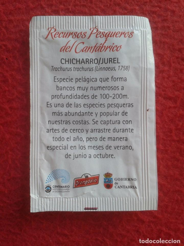 Sobres de azúcar de colección: SOBRE DE AZÚCAR PACKET OF SUGAR RECURSOS PESQUEROS DEL CANTÁBRICO CHICHARRO JUREL. CANTABRIA VER FOT - Foto 2 - 89355344