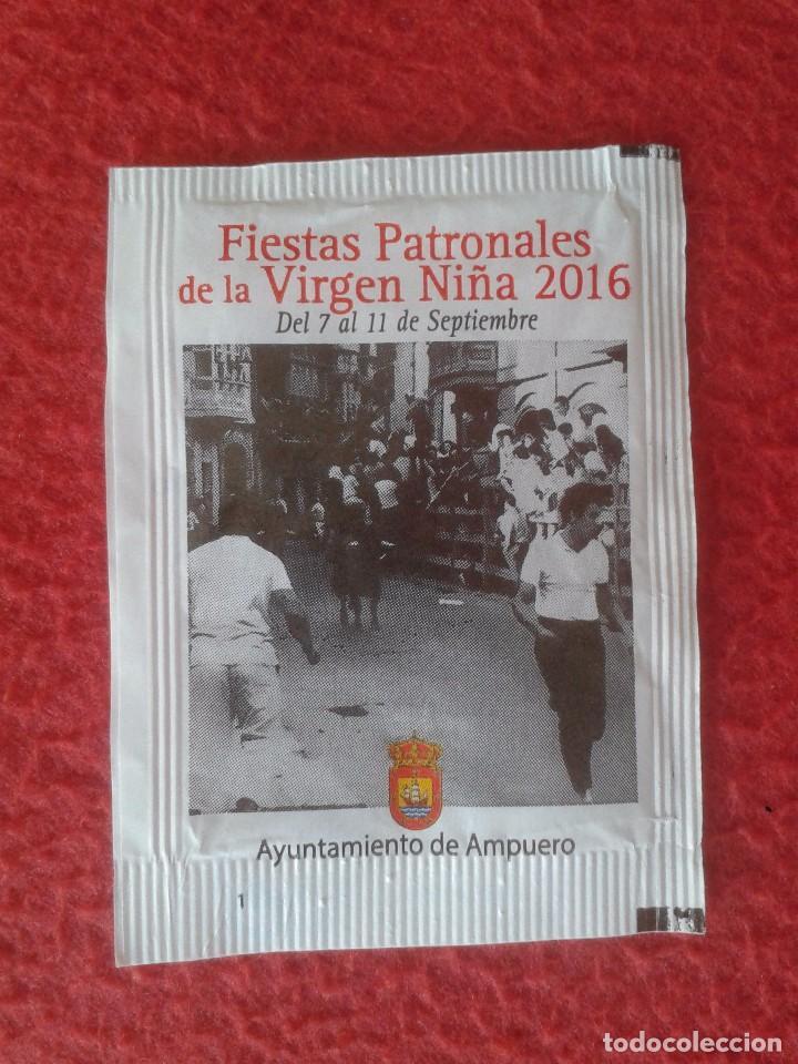 SOBRE DE AZÚCAR PACKET OF SUGAR ENCIERROS AMPUERO CANTABRIA ENCIERRO TOROS FIESTAS DE LA VIRGEN NIÑA (Coleccionismos - Sobres de Azúcar)