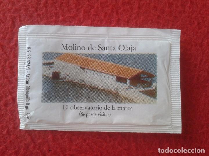 SOBRE DE AZÚCAR PACKET OF SUGAR MOLINO DE SANTA OLAJA OLALLA EL OBSERVATORIO DE LA MAREA. CANTABRIA (Coleccionismos - Sobres de Azúcar)