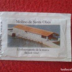 Sobres de azúcar de colección: SOBRE DE AZÚCAR PACKET OF SUGAR MOLINO DE SANTA OLAJA OLALLA EL OBSERVATORIO DE LA MAREA. CANTABRIA . Lote 89478060