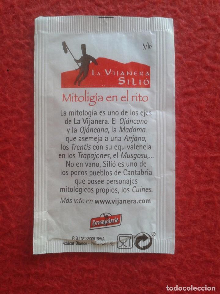 Sobres de azúcar de colección: SOBRE DE AZÚCAR PACKET OF SUGAR LA VINAJERA MÁSCARA MASCARADA SILIÓ CANTABRIA. MITOLOGÍA. DROMEDARIO - Foto 2 - 89503872