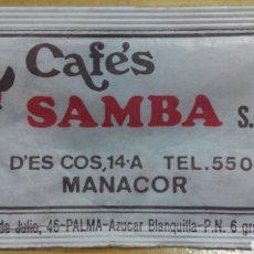 Sobres de azúcar de colección: SOBRE DE AZÚCAR DE CAFÉS SAMBA. C.M., 6 GR.. Lote 90616900