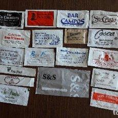 Sobres de azúcar de colección: LOTE DE 20 SOBRES DE AZUCAR DE BARES, RESTAURANTES, HOTELES.... Lote 93726305