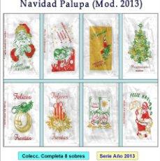 Sobres de azúcar de colección: NAVIDAD PALUPA.- 8 SOBRES DE AZÚCAR. SERIE COMPLETA / AÑO 2013. Lote 95190195