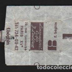 Sobres de azúcar de colección: SOBRE PAPEL AZUCARILLO FRANCES AÑOS 70. Lote 95496591