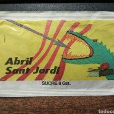 Sobres de azúcar de colección: SOBRE DE AZÚCAR SERIE MESES Y TRADICIONES - ABRIL - SANT JORDI. SUCREFÍ - PROMERCA, 8 GR. . Lote 95656822