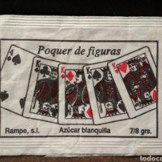 Sobres de azúcar de colección: SOBRE DE AZÚCAR SERIE PÓQUER - PÓQUER DE FIGURAS. RAMPE, 7/8 GR. . Lote 95729524