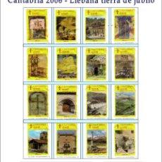 Sobres de azúcar de colección: CANTABRIA 2006 - LIÉBANA TIERRA DE JÚBILO.- 16 SOBRES DE AZÚCAR. SERIE COMPLETA / AÑO 2006. Lote 95740899