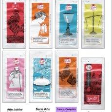 Sobres de azúcar de colección: AÑO JUVILAR CALCEATENSE.- 7 SOBRES DE AZÚCAR. SERIE COMPLETA / AÑO 2009. Lote 95740967