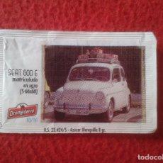 Sobres de azúcar de colección: SOBRE DE AZÚCAR PACKET OF SUGAR COCHE CAR SEAT 600 I CONCENTRACIÓN NACIONAL CIUDAD DE SANTANDER 2013. Lote 96419887