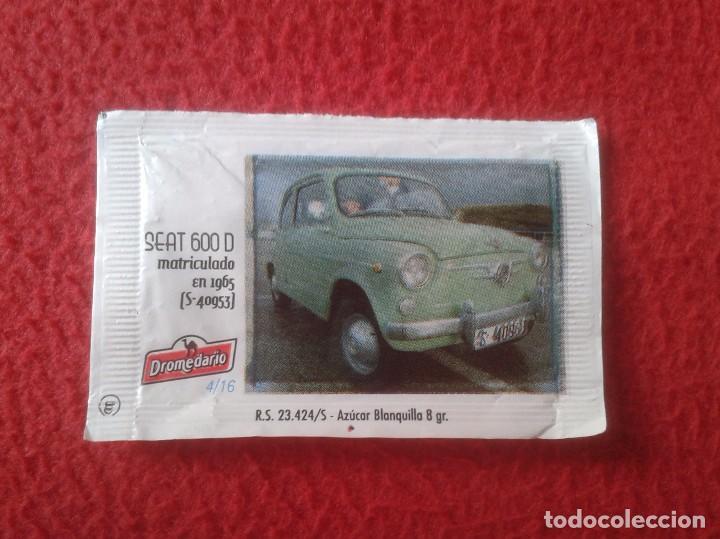 SOBRE DE AZÚCAR PACKET OF SUGAR COCHE CAR SEAT 600 I CONCENTRACIÓN NACIONAL CIUDAD DE SANTANDER 2013 (Coleccionismos - Sobres de Azúcar)