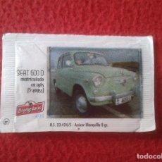 Sobres de azúcar de colección: SOBRE DE AZÚCAR PACKET OF SUGAR COCHE CAR SEAT 600 I CONCENTRACIÓN NACIONAL CIUDAD DE SANTANDER 2013. Lote 96420135