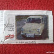 Sobres de azúcar de colección: SOBRE DE AZÚCAR PACKET OF SUGAR COCHE CAR SEAT 600 I CONCENTRACIÓN NACIONAL CIUDAD DE SANTANDER 2013. Lote 96420279