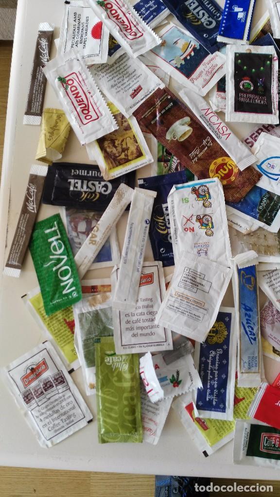 Sobres de azúcar de colección: Lote 190 dobres de azucar vacios - Foto 2 - 97997791