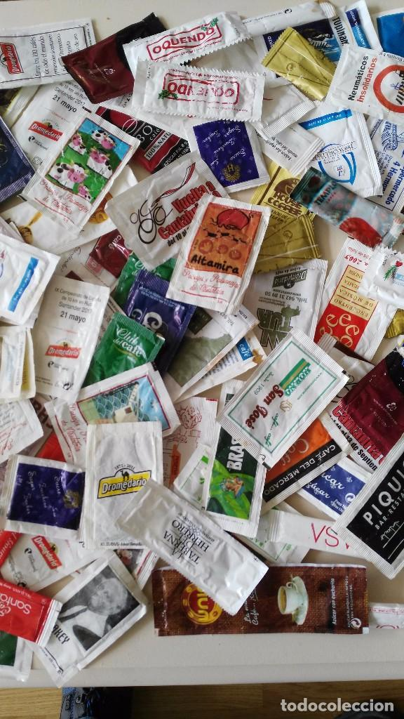 Sobres de azúcar de colección: Lote 190 dobres de azucar vacios - Foto 3 - 97997791