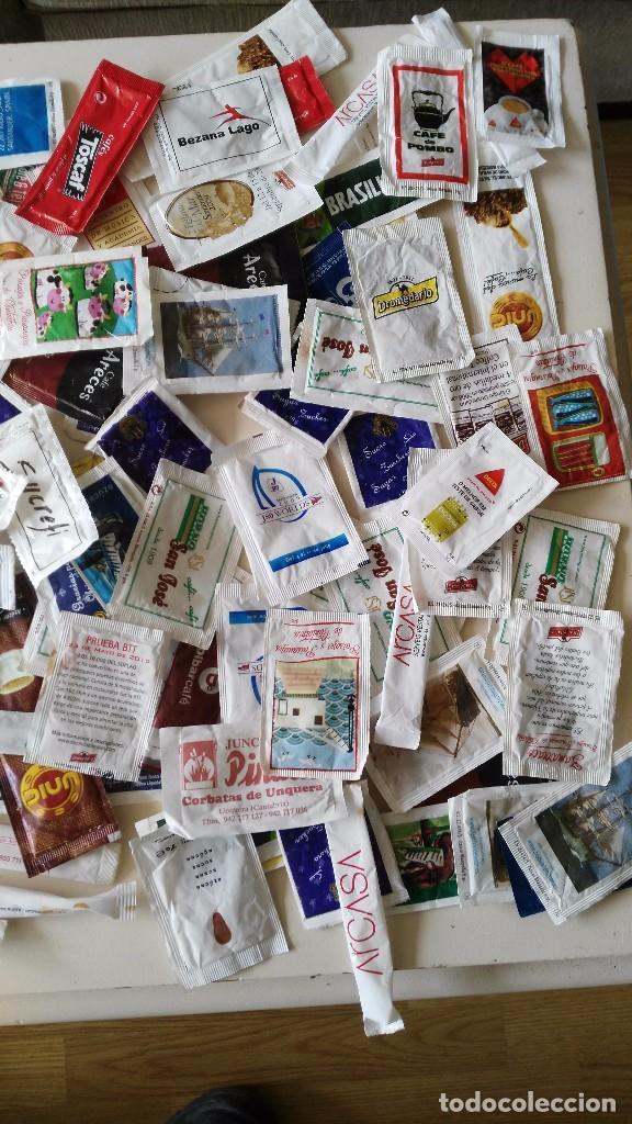Sobres de azúcar de colección: Lote 190 dobres de azucar vacios - Foto 4 - 97997791