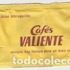 Sobres de azúcar de colección: SOBRE AZUCAR. CAFÉS VALIENTE. REF. 25-1245. Lote 98567447