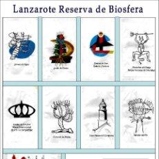 Sobres de azúcar de colección: LANZAROTE RESERVA DE BIOSFERA.- 8 SOBRES DE AZÚCAR / SERIE COMPLETA / AÑO 2006. Lote 104429543