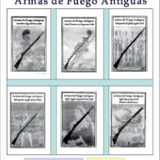 Sobres de azúcar de colección: ARMAS DE FUEGO ANTIGUAS.- 6 SOBRES DE AZÚCAR / SERIE COMPLETA / AÑO 2008. Lote 103486351