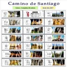 Sobres de azúcar de colección: CAMINO DE SANTIAGO ¡BUEN CAMINO!.- 20 SOBRES DE AZÚCAR / SERIE COMPLETA / AÑO 2017. Lote 104429644