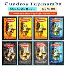 Sobres de azúcar de colección: CUADROS TUPINAMBA - ANVERSO. Y REVERSO. DIF. COLOR.- 12 SOBRES DE AZÚCAR. SERIE COMPLETA / AÑO 2003. Lote 103753015