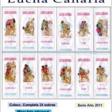 Sobres de azúcar de colección: LUCHA CANARIA.- 24 SOBRES DE AZÚCAR. SERIE COMPLETA / AÑO 2011. Lote 103753115