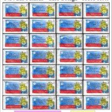Sobres de azúcar de colección: U.D. LAS PALMAS - CAFÉ ORTEGA - SOBRE CORTO.- 28 SOBRES DE AZÚCAR. SERIE COMPLETA / AÑO 2006. Lote 104429311