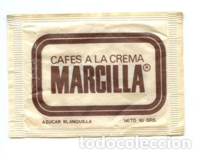 SOBRE DE AZUCAR SUGAR PACKET - CAFES MARCILLA - 10 GR. (Coleccionismos - Sobres de Azúcar)