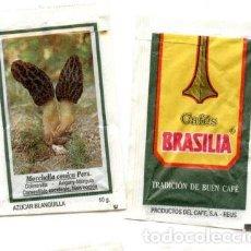 Sobres de azúcar de colección: SOBRE DE AZUCAR SUGAR PACKET - CAFES BRASILIA REUS MICOLOGIA SETAS - 10 GR.. Lote 105837447