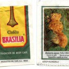 Sobres de azúcar de colección: SOBRE DE AZUCAR SUGAR PACKET - CAFES BRASILIA REUS MICOLOGIA SETAS - 10 GR.. Lote 105837471