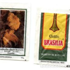 Sobres de azúcar de colección: SOBRE DE AZUCAR SUGAR PACKET - CAFES BRASILIA REUS MICOLOGIA SETAS - 10 GR.. Lote 105837627